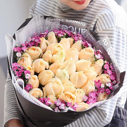 男朋友生日送玫瑰花